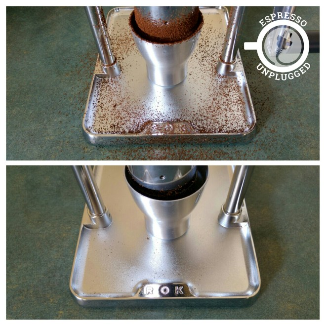 Ross droplet technique for coffee grinder static