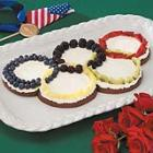 Olympic Rings Fruit Pizza