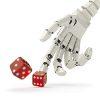 Ręka robota rzuca kości - ikonka