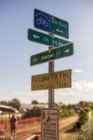 Signs at the Community Garden // Photo Credit Ruben Karel