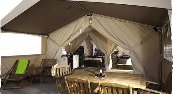 Review Safaritent XL op camping St. Avit Loisirs in de Dordogne