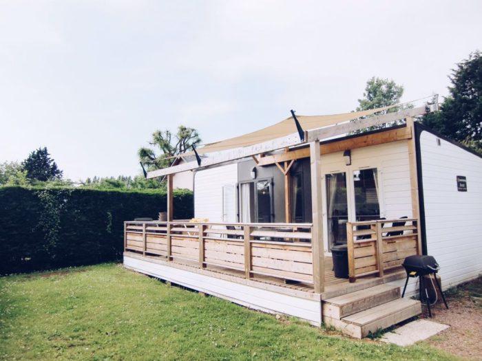 Avant stacaravan - Camping la Vall?e, Normandi?, Frankrijk