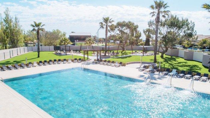 Nieuwe zwembad op camping De La plage
