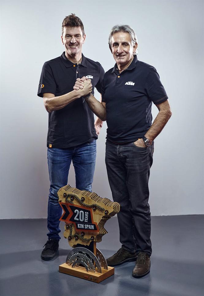 César Rojo y Marc Coma KTM