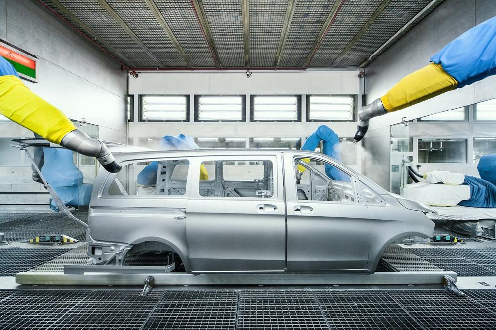 Fabricacion de la furgoneta Mercedes Vito en la fábrica de Vitoria