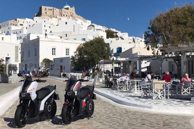 SEAT MO en la isla griega Astipalea
