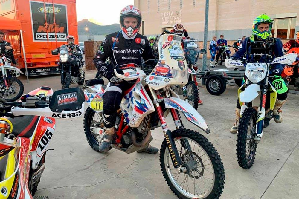 José María García antes de afrontar el reto del Dakar 2022 a bordo de una BMW