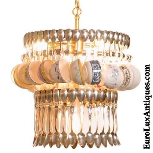 Teacup And Spoon Chandelier