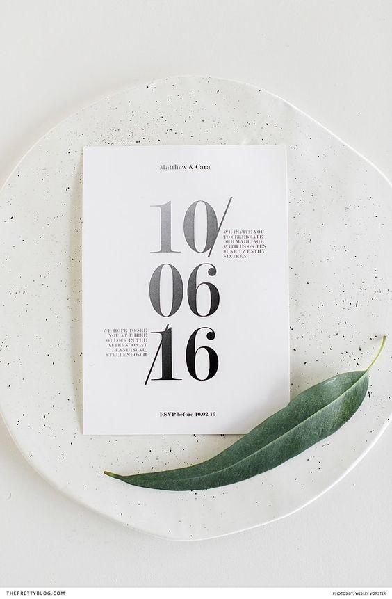 Minimalist Wedding Invites
