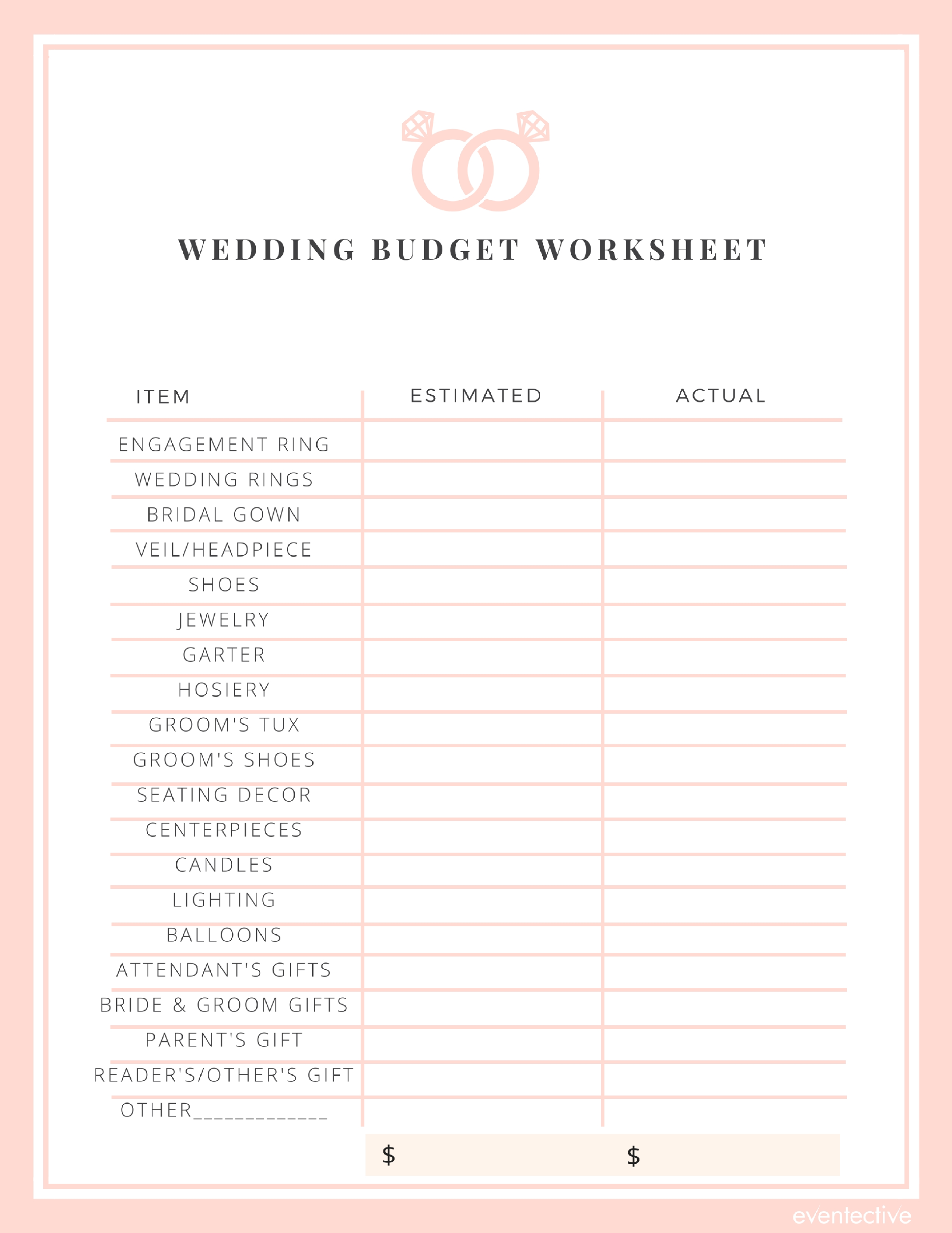Wedding Budget Worksheet Cheers And Confetti Blog By