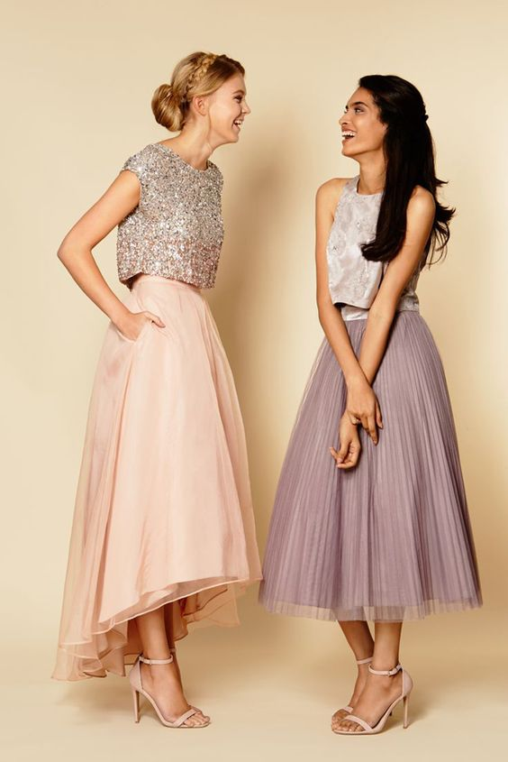 Different length bridesmaid dresses