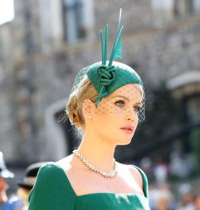 Lady Kitty Spencer wearing a hat at the royal wedding: Wedding Traditions