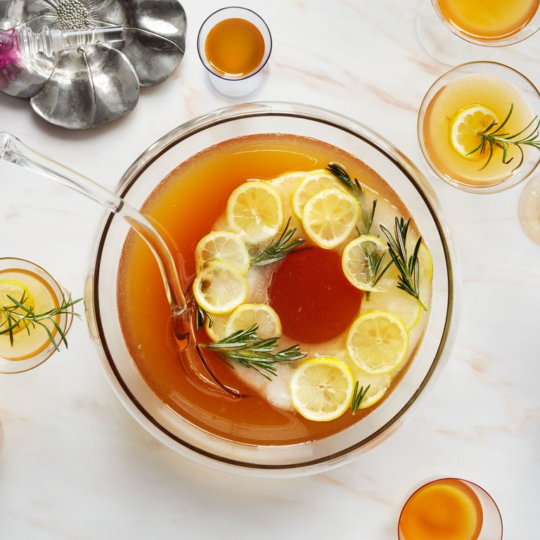 Earl Grey Bourbon Punch Cocktail