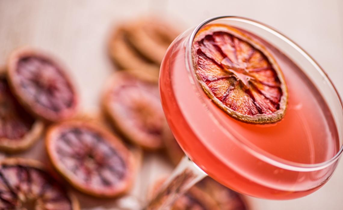NYE Cocktail with Orange