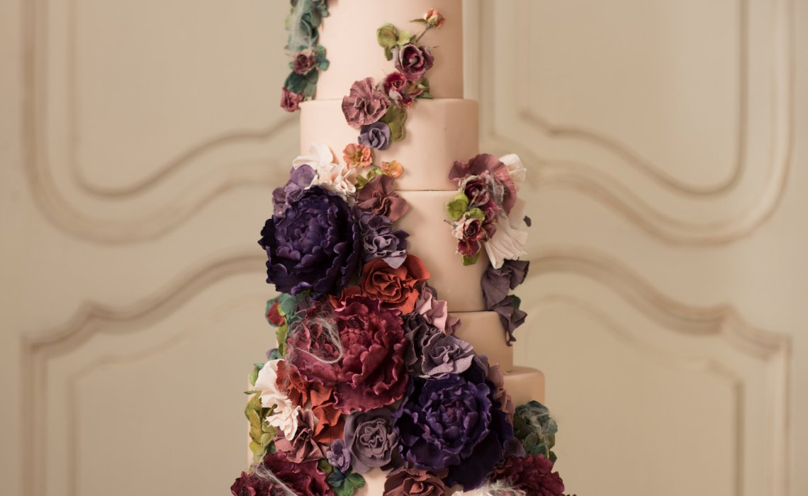 Nadia and Co Flower Tower Wedding Cake