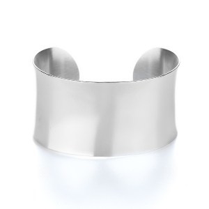 Thick engravable cuff bangle bracelet from eves addiction sterling silver jewelry