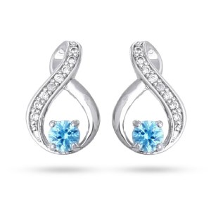Custom cz birthstone earrings under 50 from eves addiction jewelry