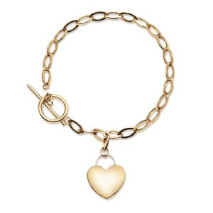 engravable mommy and daughter bracelet and engravable gold plated heart bracelet