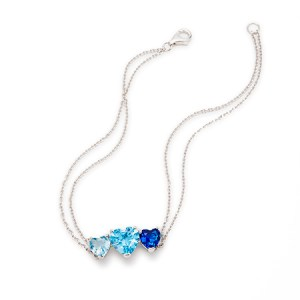 mother birthstone double chain bracelet