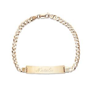 fathers day gift ideas 14k gold mens engravable bracelet