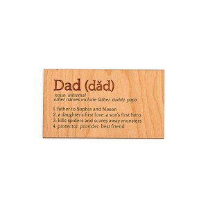 personalized dad card for fathers day engravable wood card