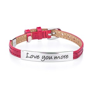 Engravable love you more bracelet and custom engraved aunt and niece bangle