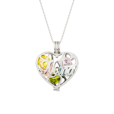 custom engraved nana sterling silver necklace eves addiction mother day gift for her silver heart designed