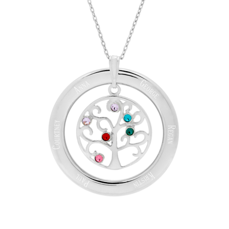 big family necklace gifts for mothers day necklace birthstone pendant eves addiction