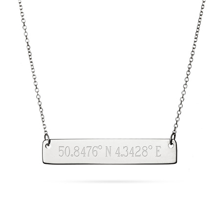 engravable coordinates gift for mom mothers day gift ideas eves addiction rolo chain bar charm