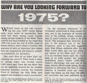 Why were Jehovah's Witnesses looking forward to 1975?