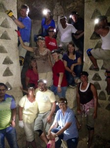 Our tour group in the Hiding caves.