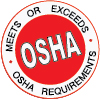 Meets or Exceeds OSHA Requirements