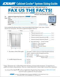 EXAIR's Cabinet Cooler Sizing Guide