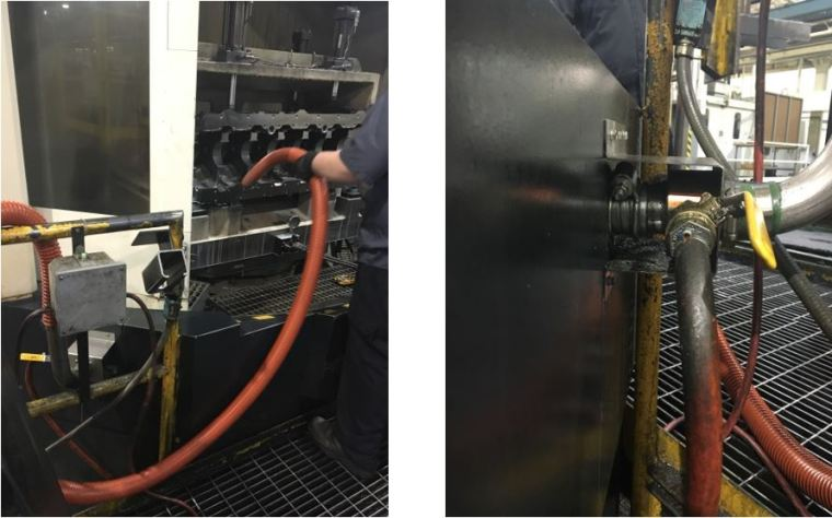 A Line Vac and two pieces of hose are all you need for a durable, easy to use, no maintenance, reliable vacuum conveyor.