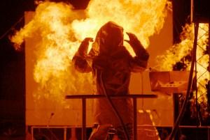 Fire Suit under test