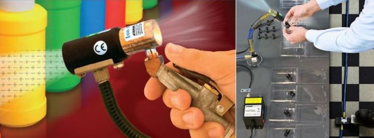 Hand held convenience of the Ion Air Gun (easy) or no-hands convenience of the Ion Air Jet Station (easier.) Your call.