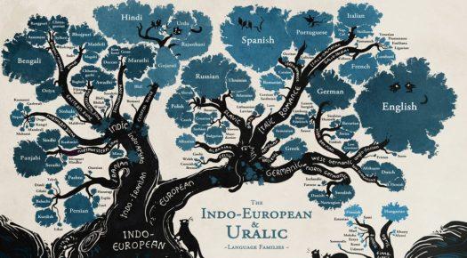 tree metaphor with language branches