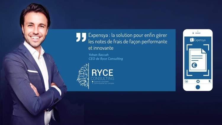 Expensya révolutionne l'activité du cabinet d'Expertise-Comptable Ryce Consulting
