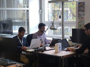 Expensya team working at Allianz Startup Hack