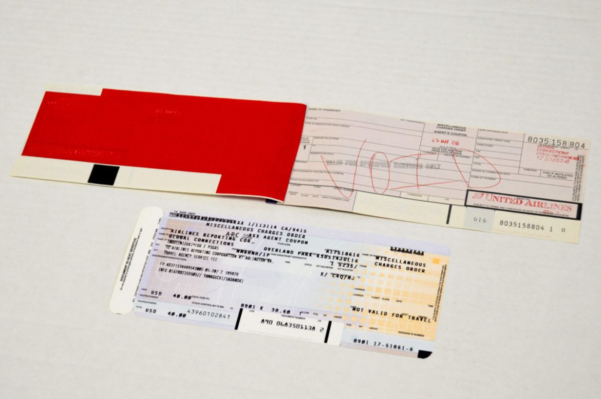 Before QR codes, airline tickets had a little more to them.