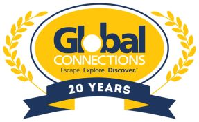 This special version of the Global Connections logo was designed for the company's 20th anniversary