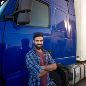 Trucker learning to become independent owner operator truck driver
