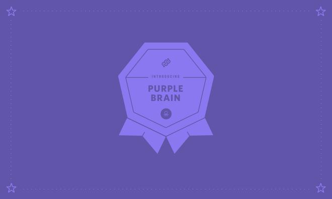 purple brain neuron, prince, eyewire, marathon, april, purple rain