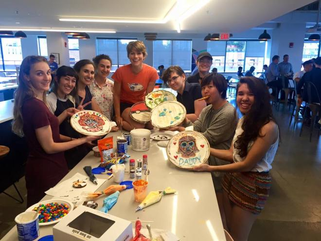 summer interns, eyewire interns, cookie cake party, eyewire, daniela gamba, amy sterling, massart