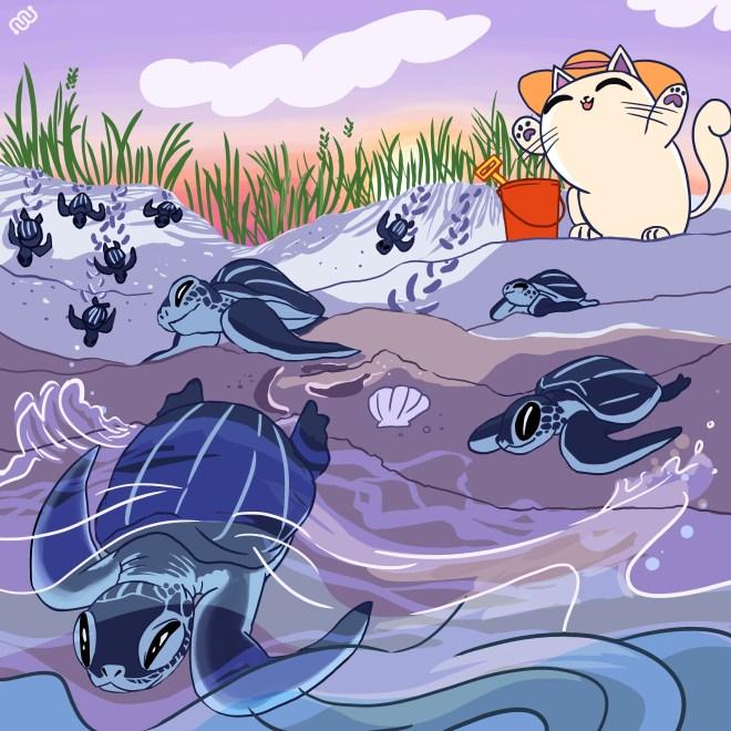 marathon, Undersea Odyssey, citizen science, Eyewire, Nurro, marine biology, sea turtles, beach