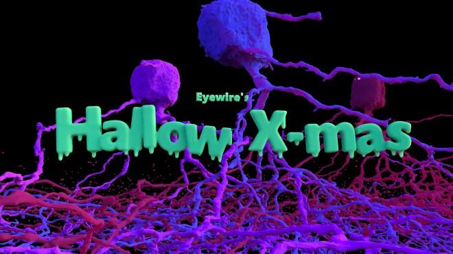 Hallow-Xmas, Eyewire, citizen science, Halloween, Xmas, holiday