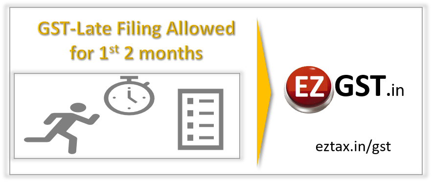 GST late Filing Allowed for 1st two months