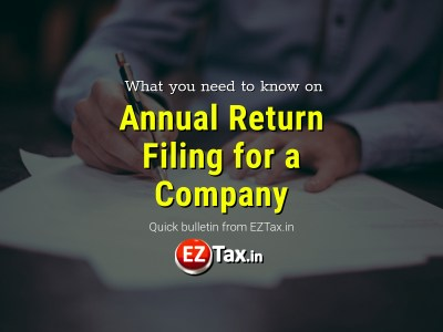 What you need to know On Company Return Filing | EZTax.in