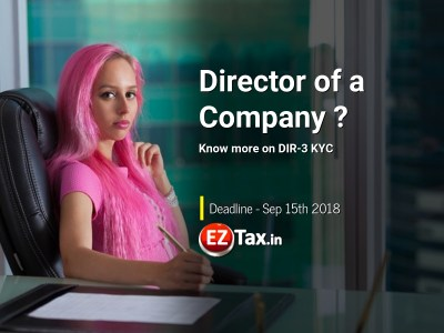 Director KYC DIR3 Deadline Sep 15th 2018