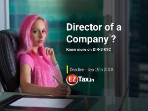 Director KYC DIR3 Deadline Sep 15th 2018